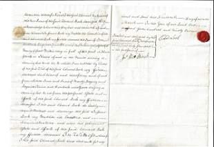 1791 English Manuscript Release of Legacy