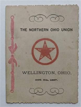 THE NORTHERN OHIO UNION of WELLINGTON, OH, 1887