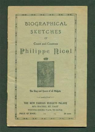 c 1930 COUNT PHILIPPE NICOL MIDGET PALACE SOUVENIR