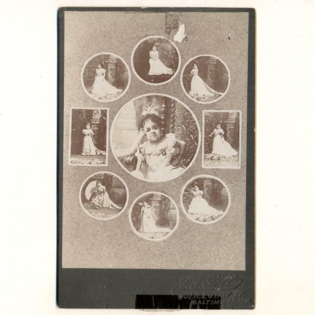 c 1890 HISPANIC CIRCUS FREAK SIDESHOW MIDGET CHIQUITA,