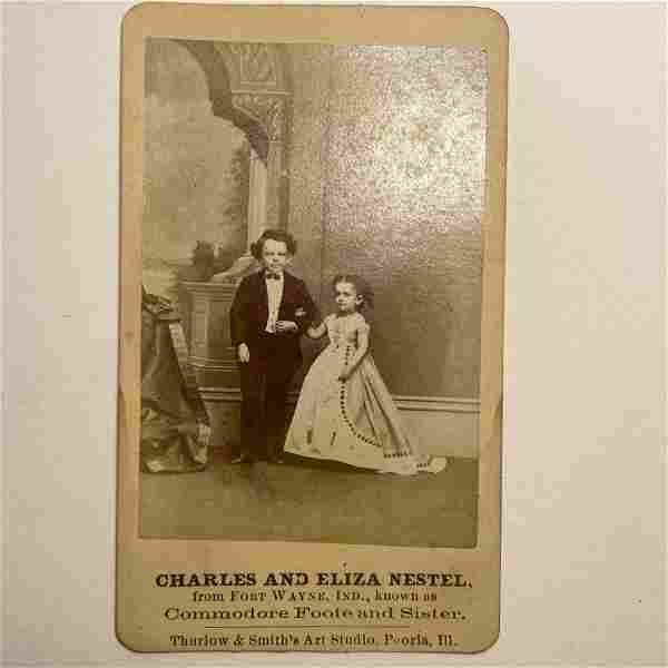 c 1870 s CIRCUS SIDESHOW FREAK CHARLES & ELIZA NESTEL,