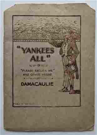 1919 D A MAC AULAY, WAR POEM BOOK, YANKEES ALL w PLEASE