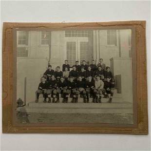 c 1917 HIGH SCHOOL FOOTBALL TEAM PHOTOGRAPH WITH GAME