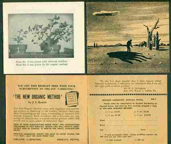 c ca. 1950 s RODALE ORGANIC GARDENING AD mailer