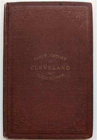 SCARCE 1876 EARLY HISTORY of CLEVELAND PUBLIC SCHOOLS