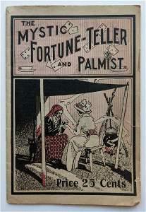 c 1900 BOOKLET MYSTIC FORTUNE TELLER & PALMIST w AD s
