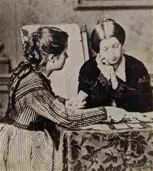 ca. 1880 s WOMEN FORTUNE TELLING w CARD s GEMS of