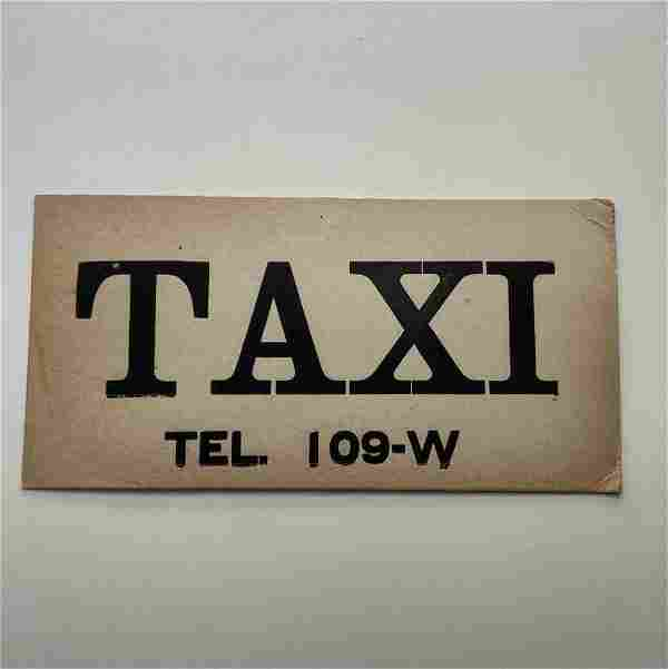 c 1930 s TAXI DASHBOARD ADVERTISING SIGN