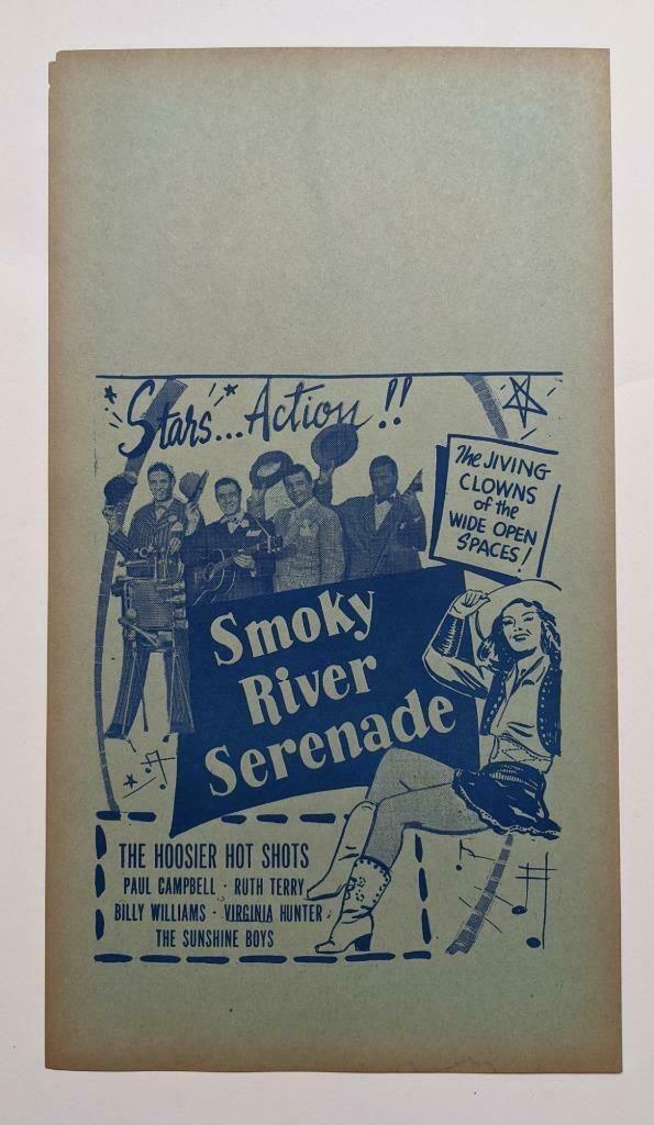 VINTAGE 1947 WESTERN MOVIE FILM POSTER SMOKY RIVER
