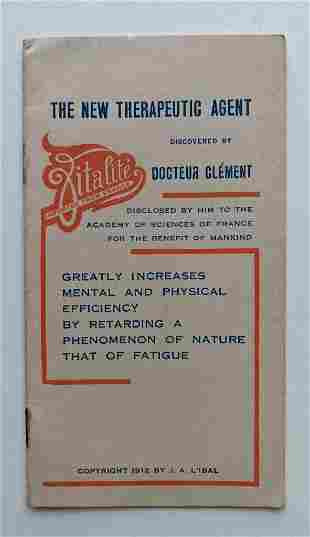 1912 QUACK MEDICINE BROCHURE for VITALITE by DR.