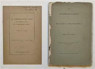 1903 LOT of 2, INTERFEROMETER STUDY RADIATIONS IN