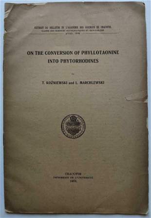 1908 THE CONVERSION of PHYLLOTAONINE to PHYTORHODINES