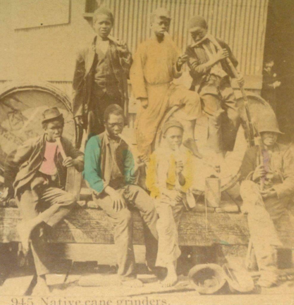 c1880 NATIVE SUGAR CANE GRINDER s OCCUPATIONAL, AFRICAN