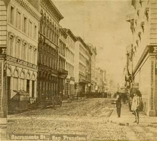ca. 1880 SACRAMENTO STREET SAN FRANCISCO California CA