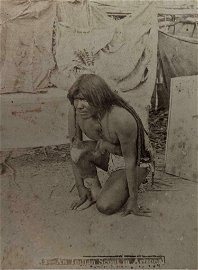 c. 1880 NATIVE AMERICAN INDIAN SCOUT in ARIZONA AZ by