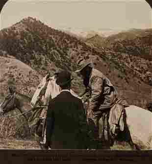 1905 PRESIDENT ROOSEVELT on HORSE BACK BEAR HUNTING