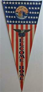 PATRIOTIC WWII WELCOME HOME AMERICAN FLAG BANNER UNCLE