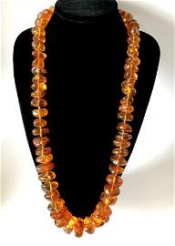 Exclusive antique certif. Amber necklace 208 gr