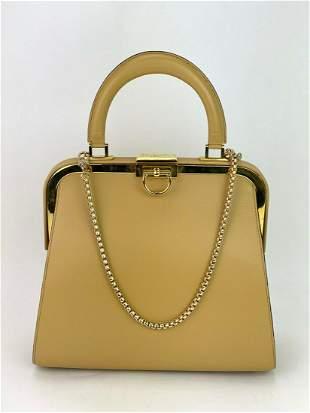 Christian Dior Fermoir Top Handle 2ways Shoulder Bag