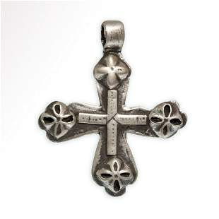 Crusaders Silver Cross with Rosettes, c. 10th Century