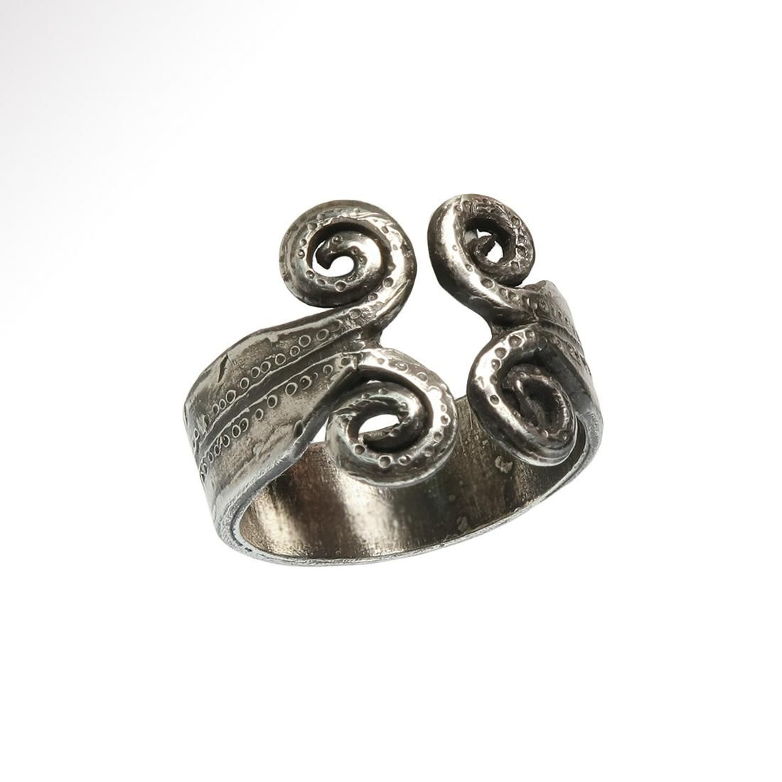 Celtic Silver Ring with Spirals, c. 1000-600 B.C.