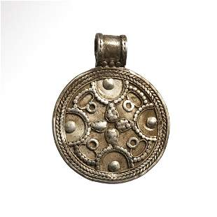 Viking Silver Pendant with Cross, c. 10th-11th Century