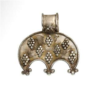 Viking Silver Lunar Crescent Pendant