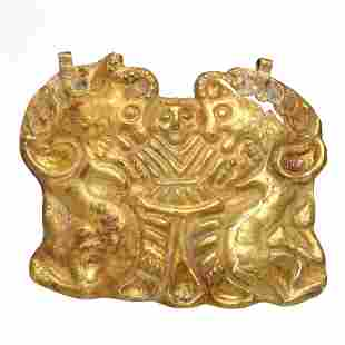 Bactrian Gold Plaque Pendant, Master of Animals, 1st