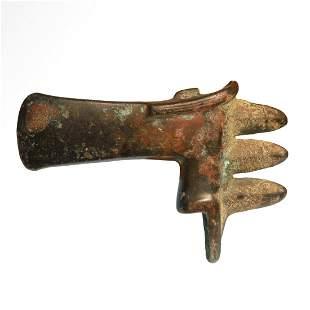 Mesopotamian Bronze Spiked Axe Head, ex. Axel Guttmann
