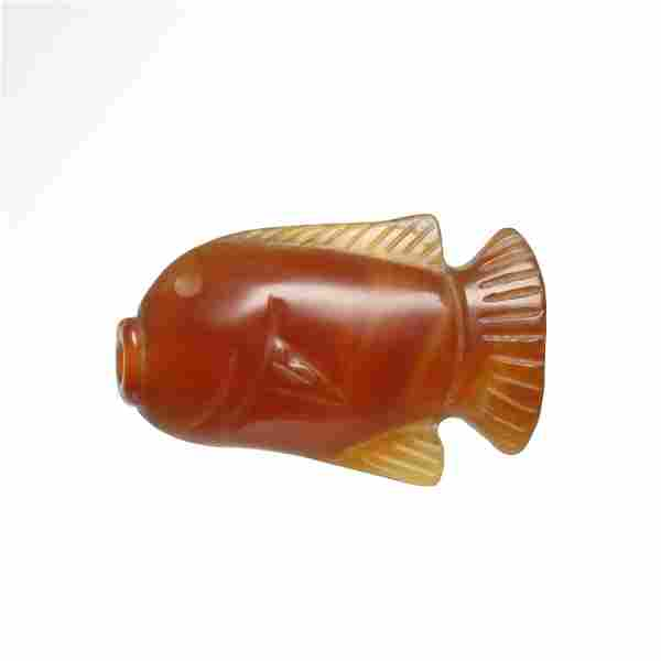 Egyptian Cornelian Fish Amulet, NK, 18th Dynasty