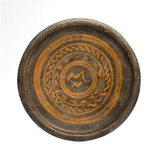 Greek Terracotta Painted Plate, Apulian