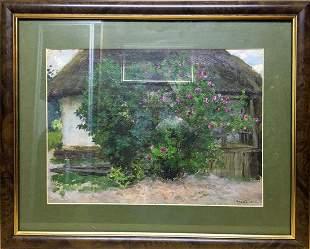 Oil painting Garden Tsyupka Ivan Kirillovich