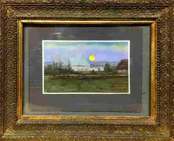 Oil painting Evening landscape Tsyupka Ivan Kirillovich