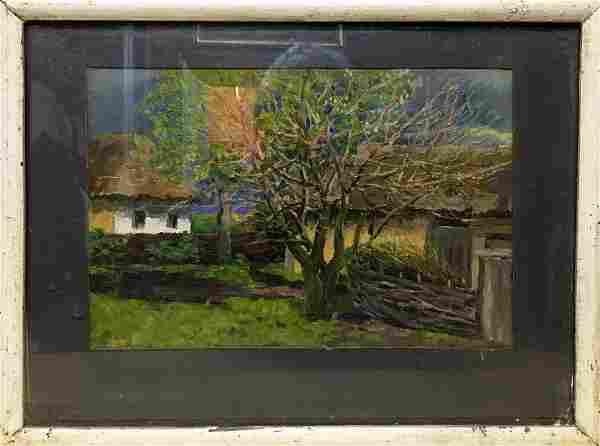 Oil painting After the rain Tsyupka Ivan Kirillovich
