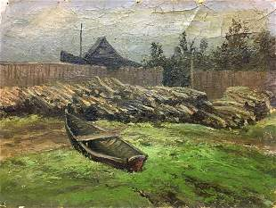 Oil painting Country life Alexander Georgievich