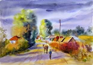Watercolor painting Morning Serdyuk Boris Petrovich