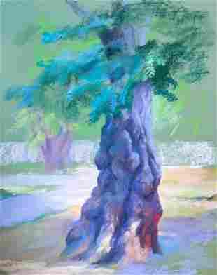 Pastel painting Acacia Serdyuk Boris Petrovich