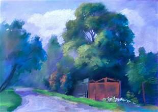 Pastel painting White flowers Serdyuk Boris Petrovich
