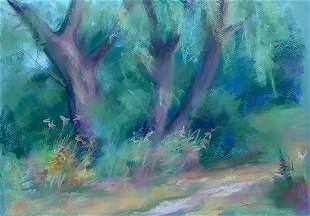 Pastel painting Willows Serdyuk Boris Petrovich