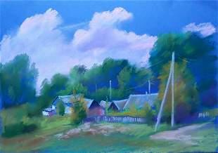 Pastel painting Rattlesnake Serdyuk Boris Petrovich