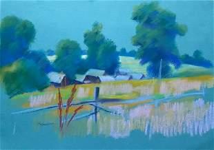 Pastel painting Somewhere on the outskirts Serdyuk