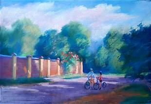 Pastel painting Summer day Serdyuk Boris Petrovich
