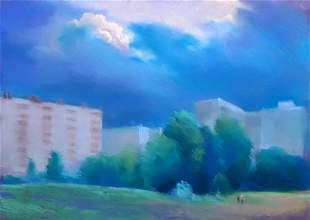 Pastel painting Before the rain Serdyuk Boris Petrovich