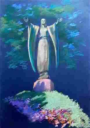 Pastel painting Cry of Yaroslavna Serdyuk Boris