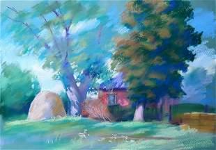 Pastel painting Sun glare Serdyuk Boris Petrovich