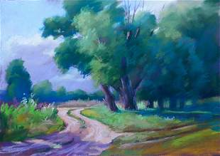 Pastel painting Trails Serdyuk Boris Petrovich