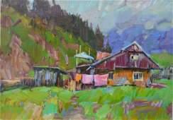 Oil painting Under the mountain Tepeta Miacheslav