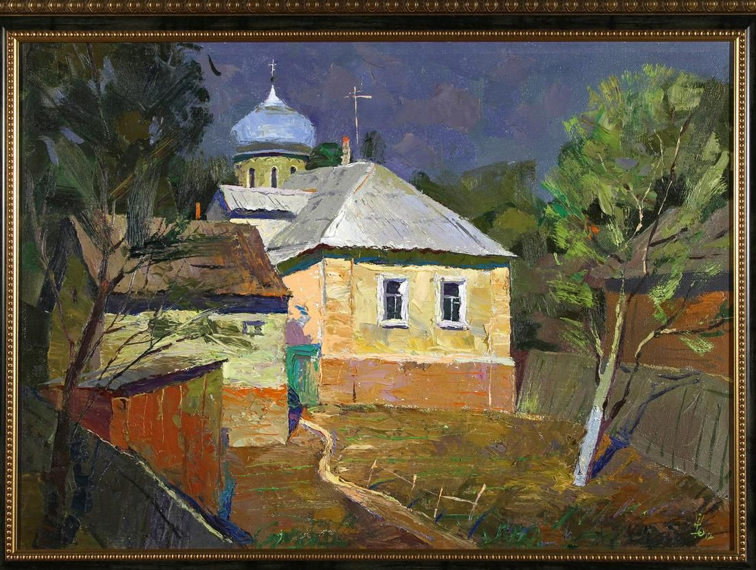 Oil painting On Obolon Egor Ktpatunov