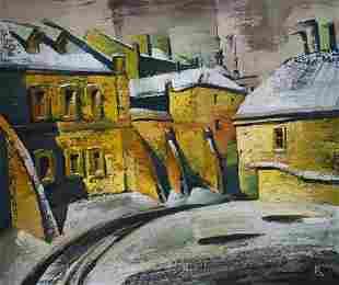 Oil painting Lower Cathedral. WinterEgor Ktpatunov