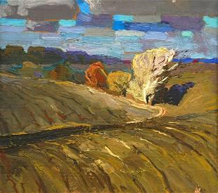 Oil painting Autumn motive Egor Ktpatunov